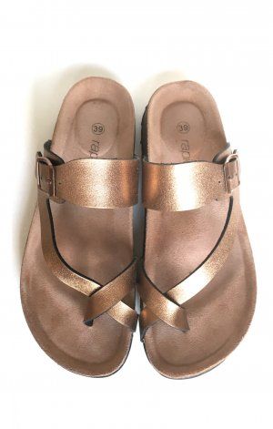 Rapidsoul Toe-Post sandals gold-colored-bronze-colored