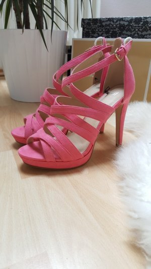 Sandalen/Sandaletten, High Heels, Pink, perfekt für d. Sommer 39
