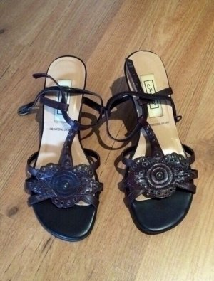 Sandalen Sandaletten mit Absatz in braun von Janet D. in 38