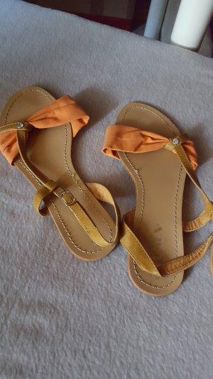 Sandalen Schuhe orange neu