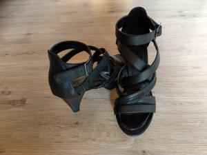 Sandalen Schuhe Sandalette 38 schwarz