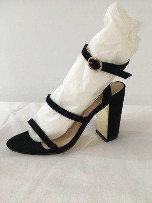 Sandalen schwarz/Gold Gr. 35