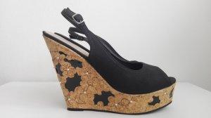 Juliet Plateauzool sandalen zwart