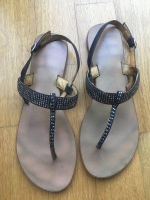 Sandalen schwarz Steinchen