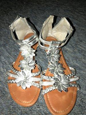 Sandalen Silber 39