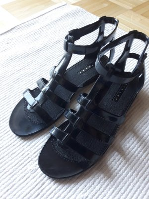 Sisley T-Strap Sandals black