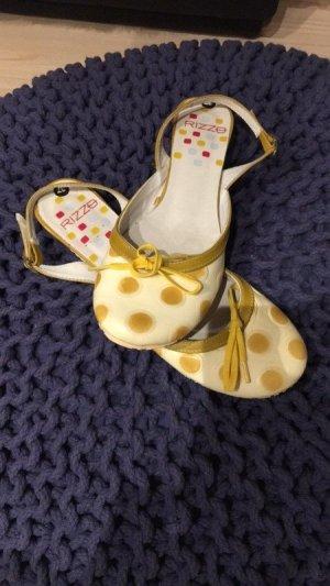 Impressionen Sandalo con cinturino giallo chiaro-giallo Materiale sintetico