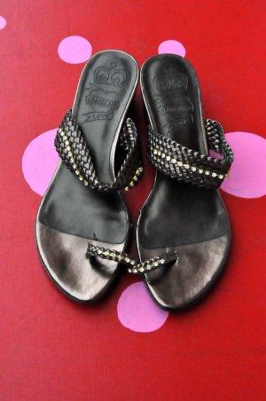Sandalen Straß kleiner Absatz