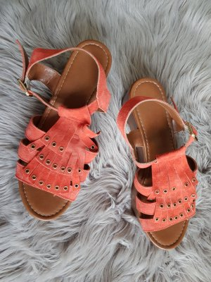 Deichmann Wedge Sandals salmon
