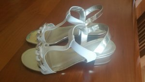 Anne Klein Strapped High-Heeled Sandals white-gold-colored