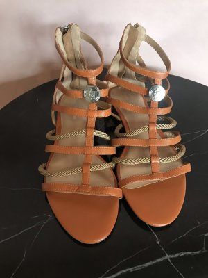 Armani Roman Sandals cognac-coloured-silver-colored