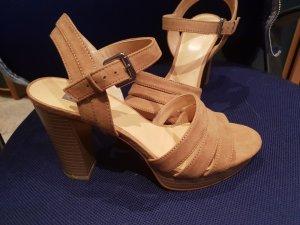 Bata Sandales à plateforme brun sable cuir