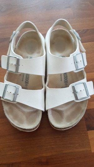 Birkenstock Clog Sandals natural white