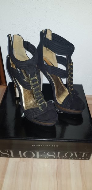 Blink Tacones altos negro-color oro