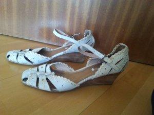 Sandalen von Comma, cremefarben, Größe 40, Leder