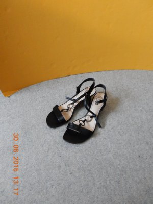 Esprit Strapped Sandals black imitation leather