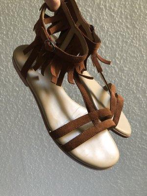 Flip*flop Sandalias romanas coñac Gamuza