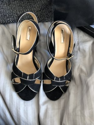 Gaudi Strapped Sandals black-gold-colored