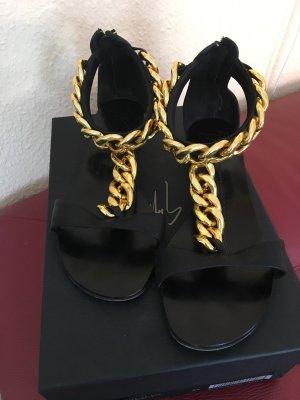 Giuseppe Zanotti Sandalias Dianette negro-color oro