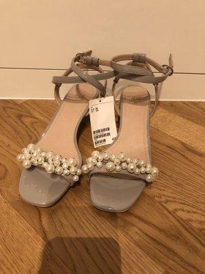 H&M Sandalo con cinturino grigio chiaro-bianco