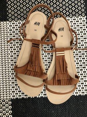 Sandalen von H&M braun Gold