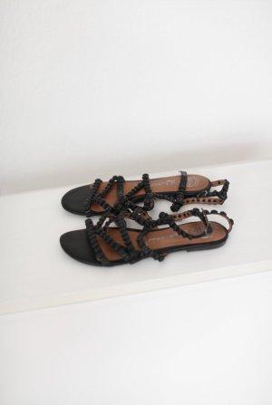 Sandalen von Jeffrey Campbell Skull Totenkopf Design Gr. 38 schwarz