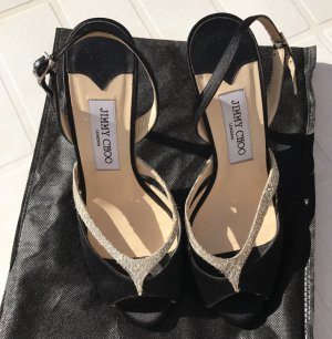 Jimmy Choo High-Heeled Sandals black-silver-colored