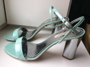 Marc Jacobs Strapped Sandals silver-colored-baby blue