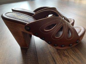 Pepe Jeans London Plateauzool sandalen veelkleurig Leer