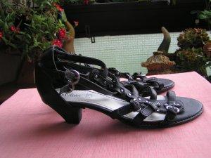 Sandalen von s'Oliver, Leder, schwarz,, Größe 40