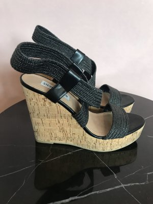 Steve Madden Plateauzool sandalen zwart-licht beige