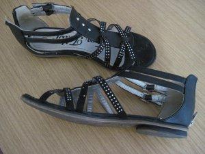 Sandalen von Tom Tailor, Gr. 37,  schwarz