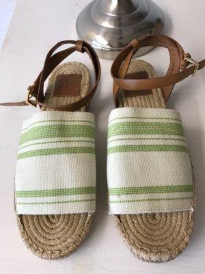Tory Burch Espadrille Sandals white-grass green