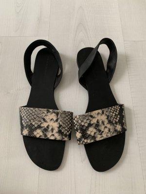 Zara Sandale d'extérieur noir-beige clair