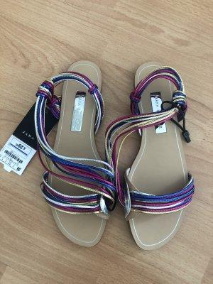 Zara Strapped Sandals multicolored