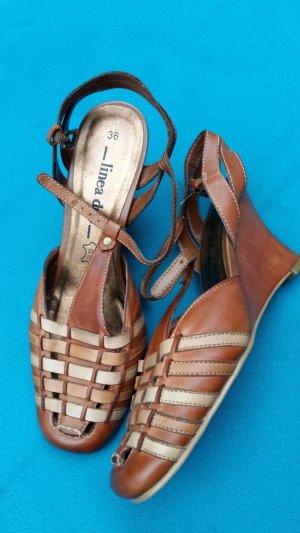 Sandalen / Wedges echtes Leder