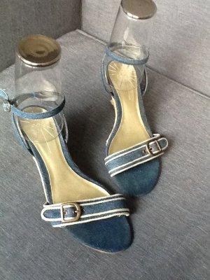 Sandalen Wedges Espadrilles Jeans ZARA Größe 40