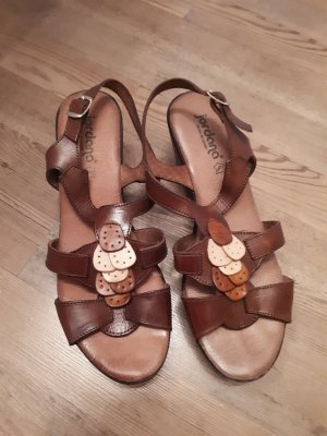 Jordana Wedge Sandals brown