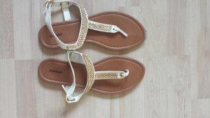 Sandalen weiß Gold