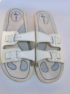 Vintage Sandalias tipo cuña blanco