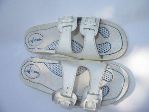 Sandalen weiß Vintage Retro Gr. 42