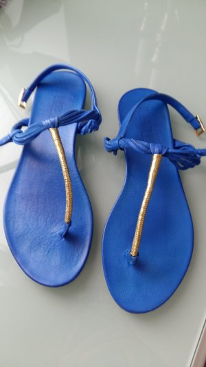 Sandalen Zehentrenner blau
