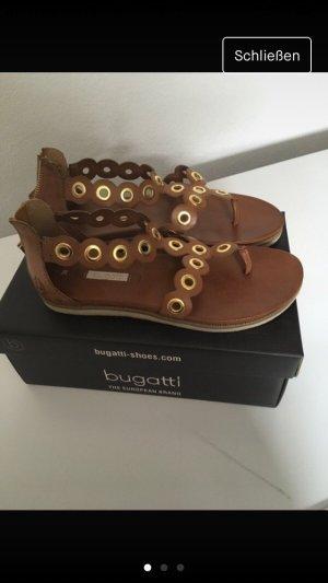 Bugatti Sandalo toe-post marrone