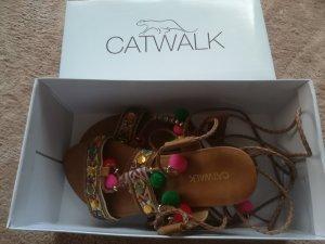 Catwalk High-Heeled Sandals light brown