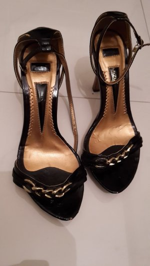 High-Heeled Sandals black