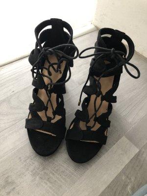 Jenny Plateauzool Sandalen met Hoge Hakken zwart