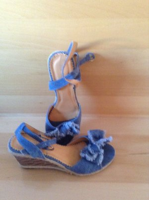 Strapped High-Heeled Sandals azure