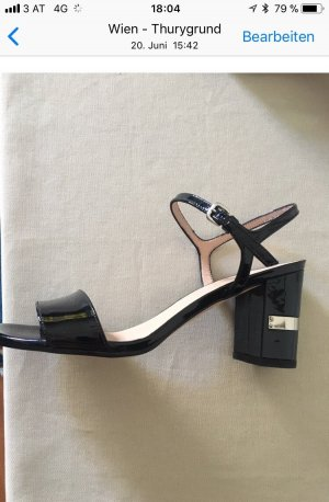 Stuart weitzman Strapped High-Heeled Sandals black leather