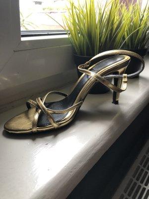 Zara Sandalen met bandjes en hoge hakken goud