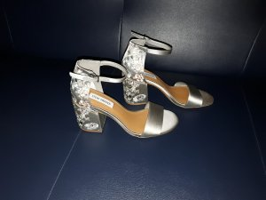 Steve Madden Strapped High-Heeled Sandals silver-colored-grey
